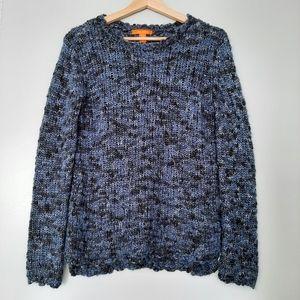 JOE FRESH Chunky Navy Blue Knit Cozy Sweater Top S